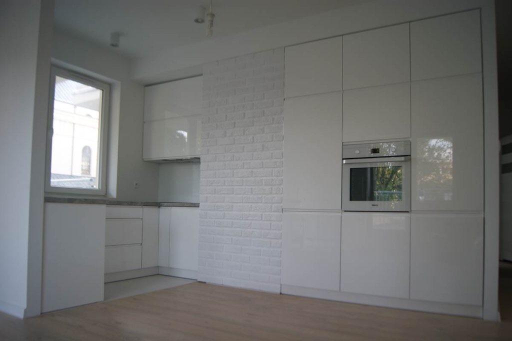 Meble kuchenne w białym połysku w Łodzi